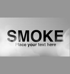transparent smoke background fog effect vector image