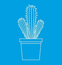 Trichocereus candicans icon outline style vector