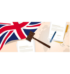 Uk united kingdom england britain law constitution vector