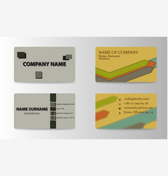 Visit card for business vector