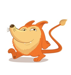 Walking round and cute fox mascot character vector