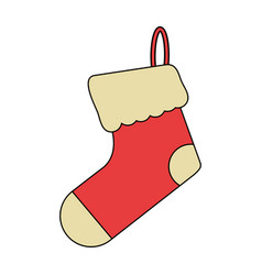 White background with ornament christmas boots vector