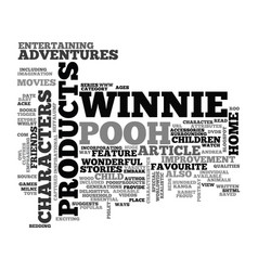 Winnie the pooh character products text word vector