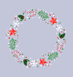winter xmas decoration vector image