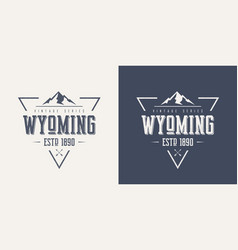 Wyoming state textured vintage t-shirt and vector
