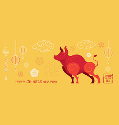 year ox chinese new vector image