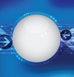 blue hi tech line background vector image