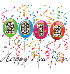 Happy new year 2013 vector image vector image