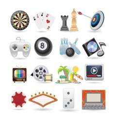 set of entertainment icons vector image