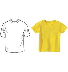 Tshirt set vector image