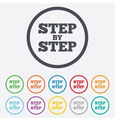 Step by step sign icon Instructions symbol vector image vector image