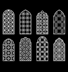 traditional arabic window vector image
