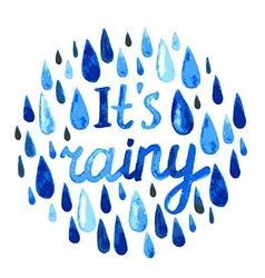 watercolor rain vector image vector image