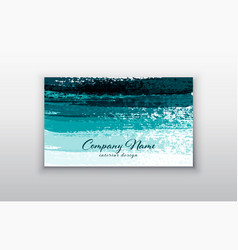 business card templates with brush stroke vector image vector image