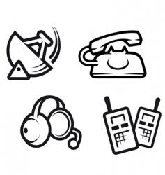 communication symbols vector image