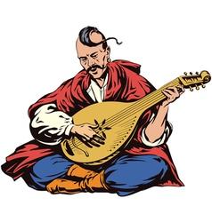 cossack musician vector image