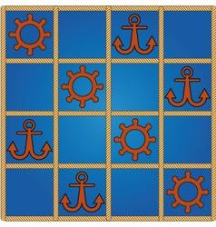nautical pattern vector image