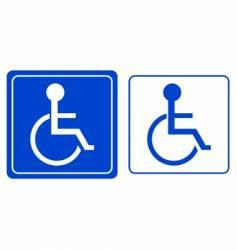 wheelchair symbol vector image vector image