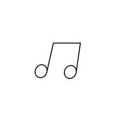 music note icon simple outline music note icon on vector image