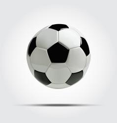realistic soccer ball or football ball vector image vector image