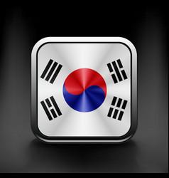 South Korea flag drawing lag sign symbol vector image