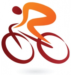 sport silhouette series cyclist vector image vector image