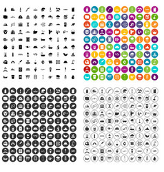 100 water supply icons set variant vector