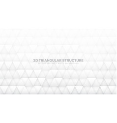 3d triangle particles technologic white abstract vector image
