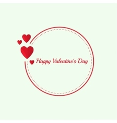 Abstract background with hovering red hearts vector image