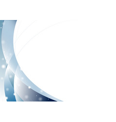 abstract blue curve overlap on white background vector image