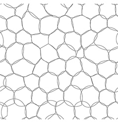 Abstract bubbles seamless pattern vector image vector image