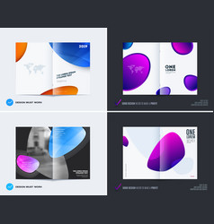 Abstract double-page cover brochure design soft vector