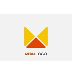 abstract letter m logo design template colorful vector image