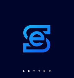 Abstract letter template vector