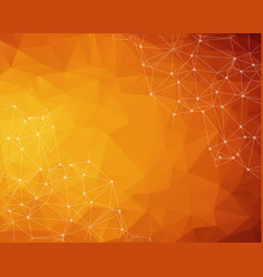 abstract polygonal dark orange background vector image