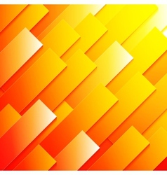 Abstract red orange and yellow paper rectangle vector