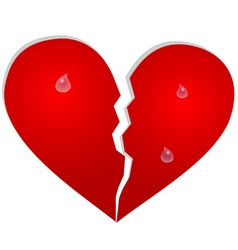 Aparted heart with tears vector