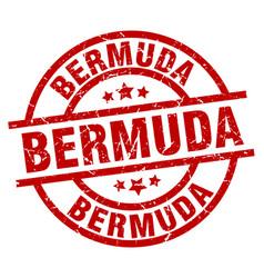 Bermuda red round grunge stamp vector