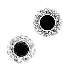 black hole symbol vector image