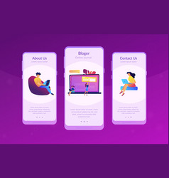 bloging app interface template vector image
