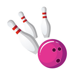 bowling ball crash the pins vector image