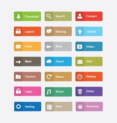 buttons and icons vector image