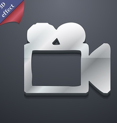 camcorder icon symbol 3D style Trendy modern vector image