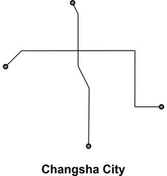 changsha subway vector image