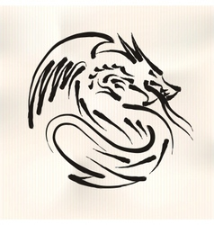 chinese calligraphy dragon vector image