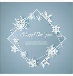 christmas and new years background with frame made vector image