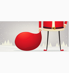 Christmas composition of feet and hands of santa vector