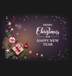 Christmas festive decor vector