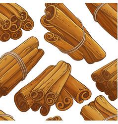 Cinnamon sticks pattern vector