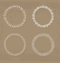 collection four wreaths vector image